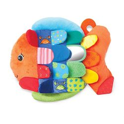 Melissa & Doug Flip Fish Baby Toy (Developmental Toy, Squeaker Tail, Shatterproof Mirror, Wa ...