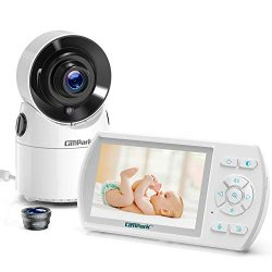 Campark Baby Monitor with Camera and Audio Pan 355° Video Baby Monitor with Night Vision Wireles ...