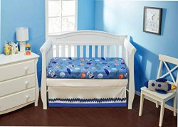 EVERYDAY KIDS 2 Pack Fitted Boys Crib Sheet, 100% Soft Microfiber, Breathable and Hypoallergenic ...