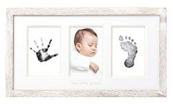 Pearhead Babyprints Wall Frame, Rustic Nursery Decor, A Perfect Baby Shower Gift Idea for Expect ...
