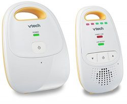 VTech DM111 Audio Baby Monitor with up to 1,000 ft of Range, 5-Level Sound Indicator, Digitized  ...