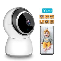 TESCAT Baby Monitor 1080P FHD Home 2.4G WiFi Security Camera Motion Detection with Night Vision  ...