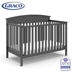 Storkcraft Graco Benton 4-in-1 Convertible Crib – Easy Assembly & Simply Converts to T ...