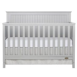 Dream On Me Alexa 5 in 1 Convertible Crib in Pebble Grey