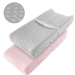 Vextronic Ultra Soft Changing Pad Cover Minky Dots Plush Changing Table Cover,Breathable Changin ...