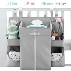 FelizMax Nursery Organizer and Baby Diaper Caddy | Hanging Diaper Organizer for Baby Essentials  ...