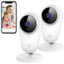 Victure 2pcs 1080P Video Baby Monitor WiFi Camera Home Camera Indoor Pet Security Camera with Ni ...