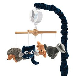Lambs & Ivy Whimsical Woods Fox/Owl Musical Baby Crib Mobile Soother Toy