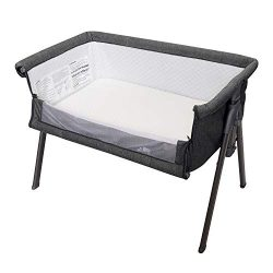 Kinbor Baby Side Sleeper Bedside Easy Folding Portable Bassinet with Travel Case, Mattress and S ...