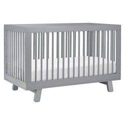 Babyletto Hudson 3-in-1 Convertible Crib with Toddler Bed Conversion Kit, Grey