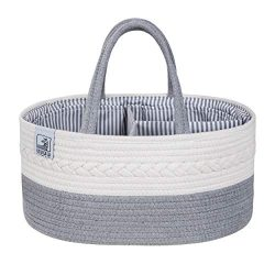 Baby Diaper Caddy Organizer – Large Portable Basket for Nappy Changing, Newborn Diaper Sto ...