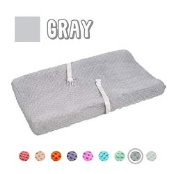 Queness Baby Changing Pad Cover, Ultra Soft Minky Dot Changing Table Pad Cover for Diaper Changi ...