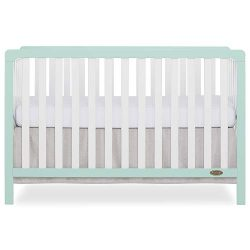 Dream On Me Ridgefield 5 in 1 Convertible Crib in Mint & White, Full Size
