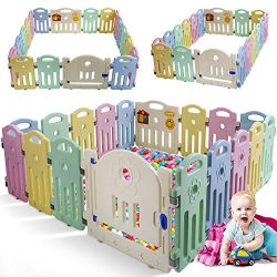Baby Playpen for Babies Baby Play Playards 18 Panels Infants Toddler Safety Kids Play Pens Indoo ...