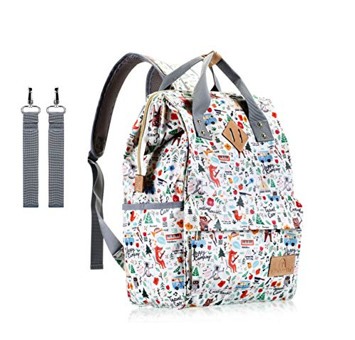 Diaper Bag Backpack,UACNDO Waterproof Cute Design Baby Nappy Backpack for Boys and Girls with In ...