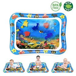 CUKU Tummy time Water Play mat Baby & Toddlers is The Perfect Fun time Play Inflatable Water ...