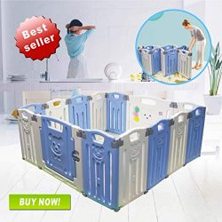 Baby Folding playpen Baby Playpen Kids Activity Centre Safety Play Yard Home Indoor Outdoor New  ...