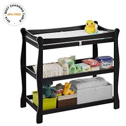 Kealive Baby Changing Table, Diaper Changing Table 2 Fixed Shelves Storage, Newborn Nursery Stat ...