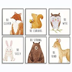 Woodland Baby Animals, Baby Nursery Decor, Baby Room Decor, Playroom Wall Art Decor Prints, Boys ...