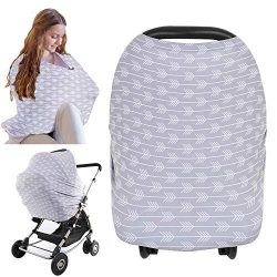 Nursing Cover for Baby Breastfeeding – Car Seat Canopy by KeaBabies – All-in-1 Soft  ...