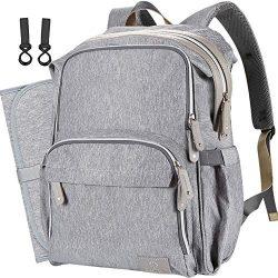 COTEY Large 30L Diaper Bag Backpack Travel Back Pack Waterproof Bookbag Baby Stuff for Mom/Dad/T ...