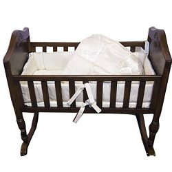 Babykidsbargains Gold Brocade Cradle Bedding Set, 18″ x 36″
