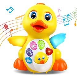 RACPNEL Baby Toys Musical Dancing Toys Duck with Lights & Sounds, Early Learning and Develop ...