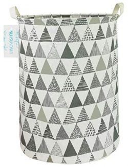 LANGYASHAN Storage Bin,Canvas Fabric Collapsible Organizer Basket for Laundry Hamper,Toy Bins,G ...