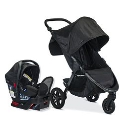 Britax B-Free Travel System with B-Safe Endeavours Infant Car Seat – Birth to 65 Pounds, M ...