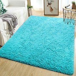 Softlife Fluffy Area Rugs for Bedroom 5.3′ x 7.6′ Shaggy Floor Rug for Girls Room Li ...