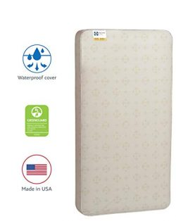 Sealy Baby Posture 2-Stage Dual Firmness Waterproof Standard Toddler & Baby Crib Mattress, 5 ...