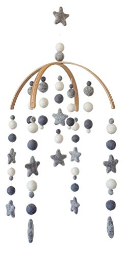 Tik Tak Design Co. Baby Crib Mobile – 100% NZ Wool Colored Felt Ball Mobile for Your Boy o ...