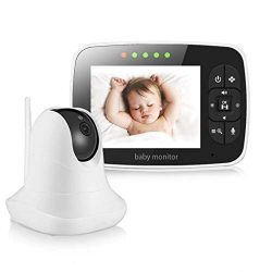 "Baby Monitor, Video Baby Monitor with 3.5"" LCD Screen, Wireless Night Vision Dual View Vid ..."
