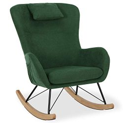 Baby Relax Cranbrook Rocker Chair with Storage Pockets, Green