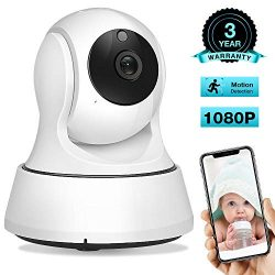 AIMECOR Baby Monitor, WiFi Camera, Pet Camera 1080P, 2.4G Wireless IP Camera, Home Security Came ...