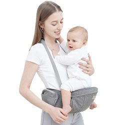 Baby Carrier with Hip Seat – YEAHOME Safety Certified Waist Carrier with Adjustable Bigges ...