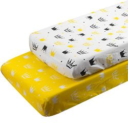 ALVABABY Changing Pad Covers 2pack 100% Organic Cotton Soft and Light Baby Cradle Mattress for B ...