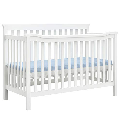 Dourxi 3-in-1 Convertible Crib, Toddler Bed with 3 Adjustable Mattress Height, Made of Real Eco  ...