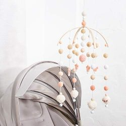 Baby Crib Mobile Bed Wind Wooden Bell Rattle Nordic Style Beads Chimes for Kids Room Hanging New ...