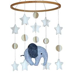 Sorrel + Fern Baby Crib Mobile Scandinavian Elephant -Baby Shower Gift Nursery Decoration