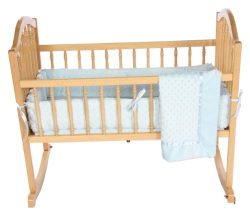 Baby Doll Bedding Heavenly Soft Cradle Set, Blue