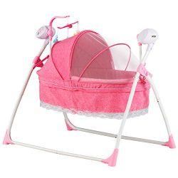 Uenjoy Automatic Baby Basket Electric Rocking Multifunction Baby Swing Cradle Bed, Remote or Pan ...