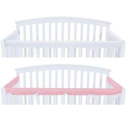 3 – Piece Crib Rail Cover Protector Safe Teething Guard Wrap for Standard Crib Rails, Fit  ...