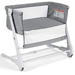 BABY JOY Baby Bedside Crib, 2 in 1 Height & Angle Adjustable Sleeper Bed Side Bassinet w/Det ...