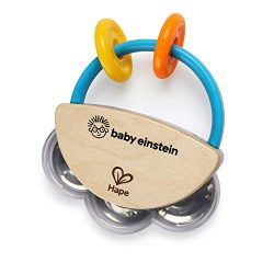 Baby Einstein Tiny Tambourine Wooden Musical Toy, 3 Months +