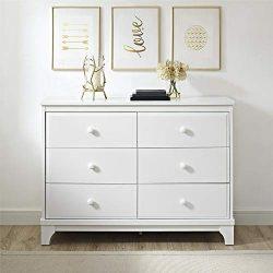 Baby Relax Baby Relax Cricket 6 Drawer Dresser, White, White