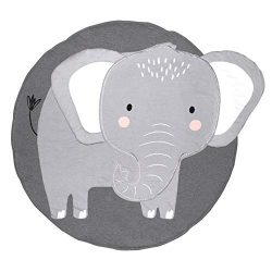Nursery Elephant Kids Rug Baby Room Childrens Floor Area Rug Mat 100% Cotton Baby Crawling Mat R ...
