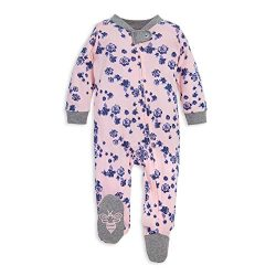Burt's Bees Baby – Unisex Sleep & Play, Organic Pajamas, NB – 9M One-Piece ...