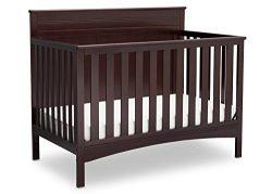 Delta Children Fancy 4-in-1 Convertible Baby Crib, Dark Chocolate