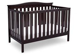 Delta Children Independence 4-in-1 Convertible Baby Crib, Dark Chocolate